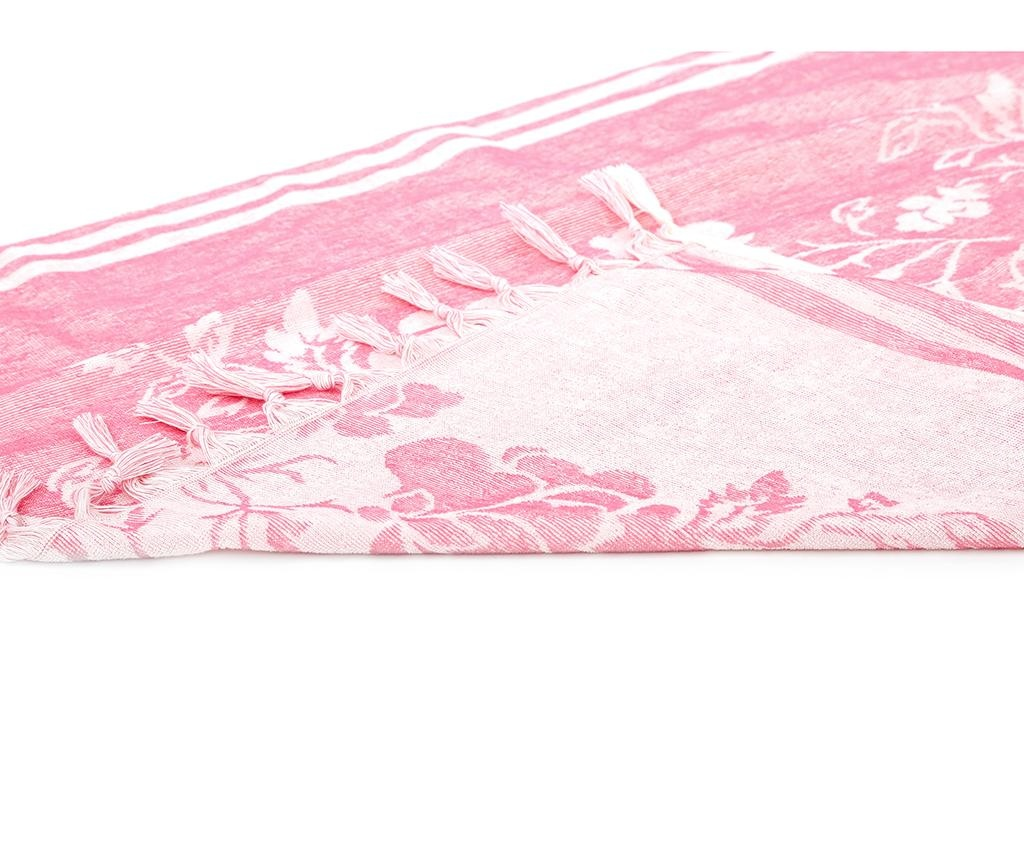 Kopalniška brisača Peshtemal Partenon Pink 80x160 cm