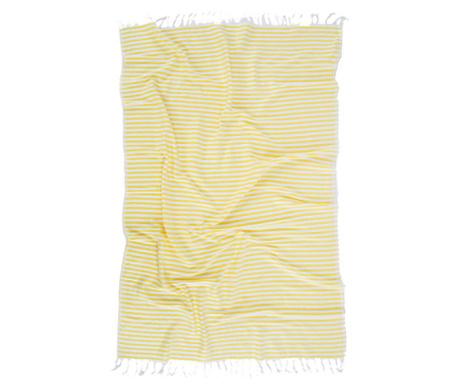 Rodos Yellow Pestemal Fürdőszobai törölköző 90x170 cm
