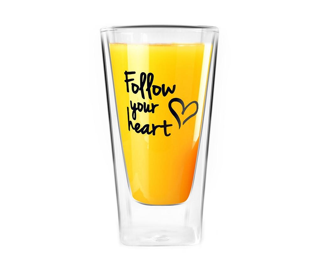 Pahar Follow Your Heart 300 ml