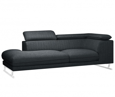 Sezlong living stanga Giselle Big Anthracite Black