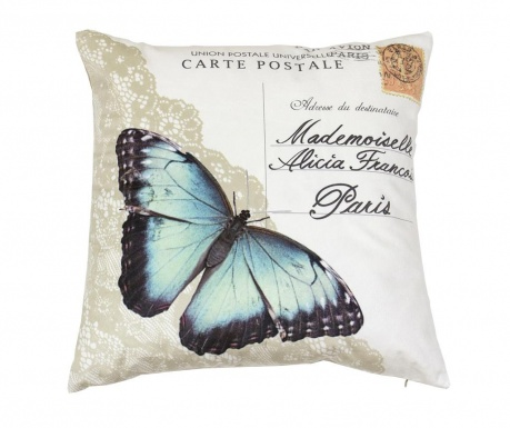 Perna decorativa Papillon Postcard 45x45 cm
