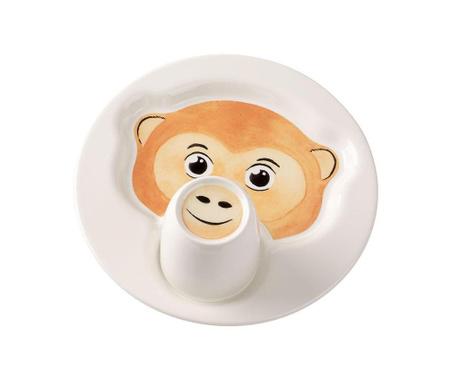 Sada tanier a hrnček pre deti Monkey