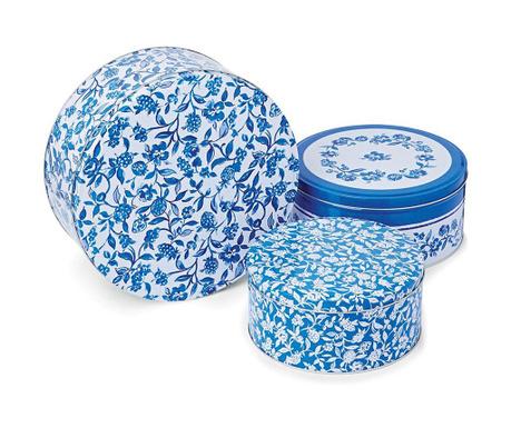 Blue Style Cake 3 db Doboz fedővel