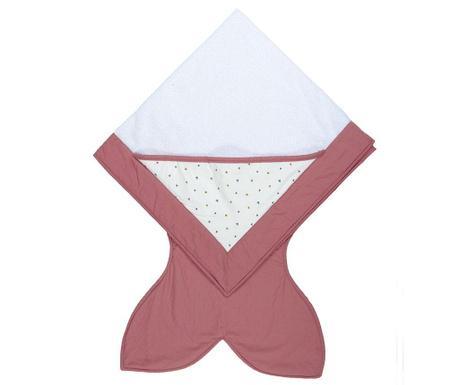 Ręcznik kąpielowy dla dzieci Flies Pink 90x90 cm