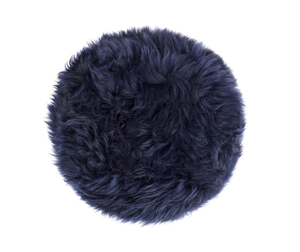Fluffy Round Blue Ülőpárna 35 cm