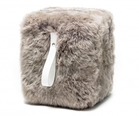 Табуретка Fluffy Cube Beige White