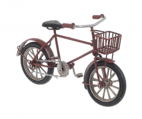 Decoratiune Bike with Basket Red