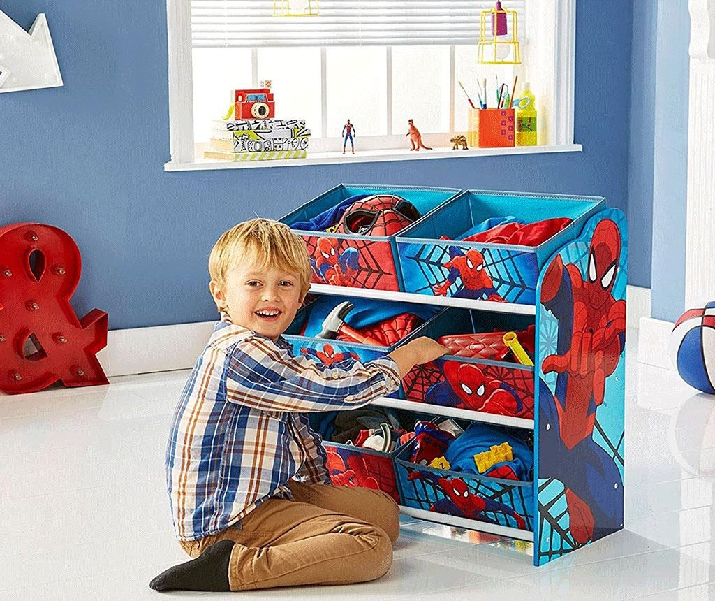 Regal s 6 košarami Spiderman