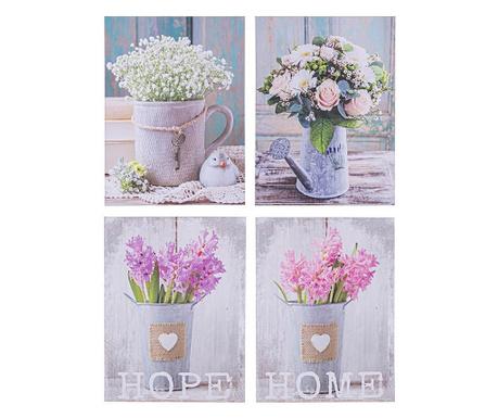 Lovely Flowers 4 db Kép 30x40 cm