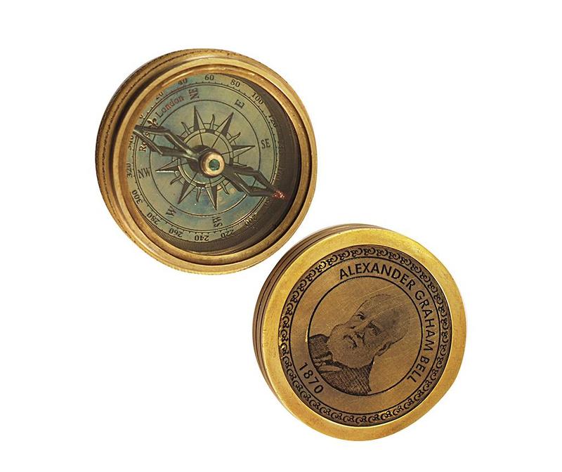 Dekorační kompas Alexander Graham Bell