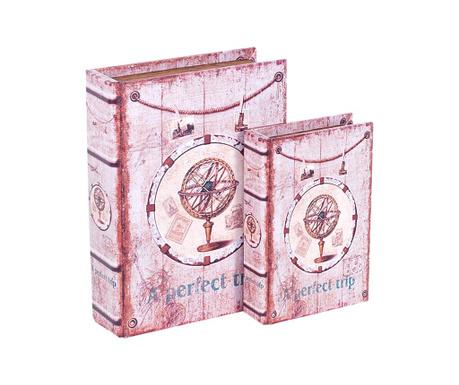 Sada 2 krabic ve tvaru knihy Perfect Trip