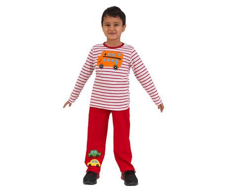 Komplet - otroška majica in hlače Car Red 7 let