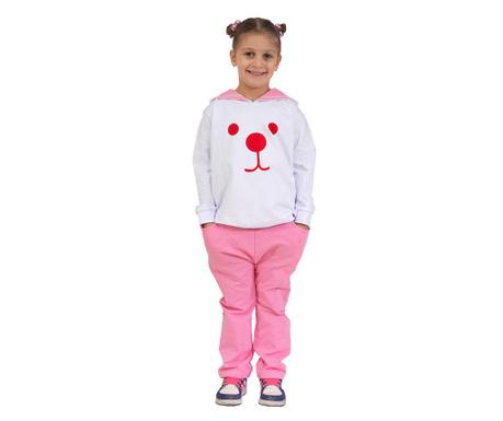 Set dječja jakna sa kapuljačom i hlače Rabbit Track Baggy Pink
