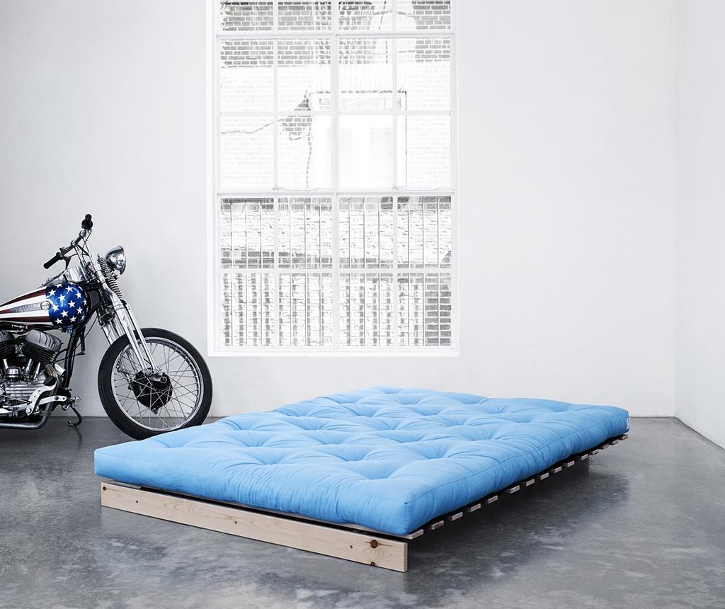 Sofa extensibila Roots Natural and Horizon Blue 140x200 cm