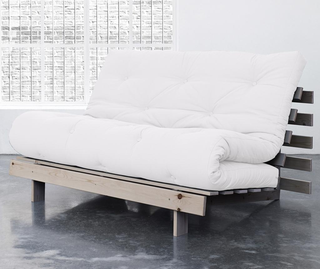 Sofa extensibila Roots Wide Natural and White