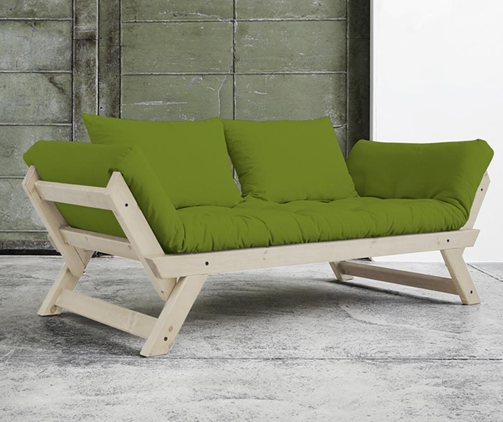 Sofa extensibila Bebop Natural & Lime
