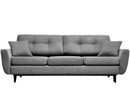 Canapea extensibila 3 locuri Jasmin Light Grey