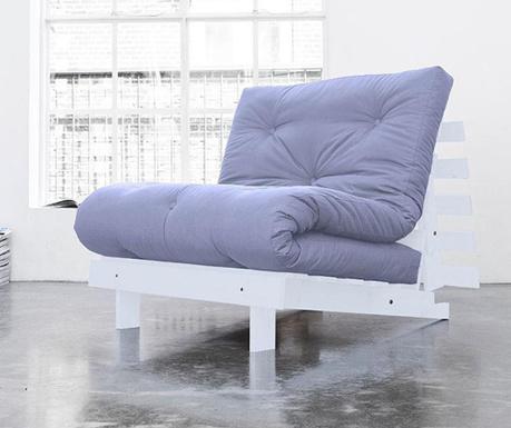 Sofa extensibila Roots White and Blue Breeze 90x200 cm