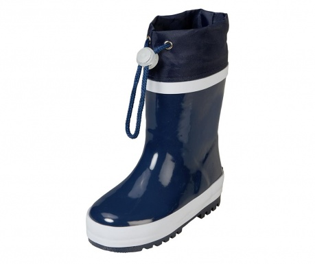 Cizme de ploaie copii Warm Navy and White 28-29