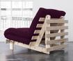 Sofa extensibila Roots Natural and Purple Plum 90x200 cm
