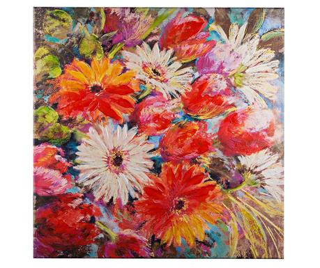 Vincent Flowers Festmény 80x80 cm