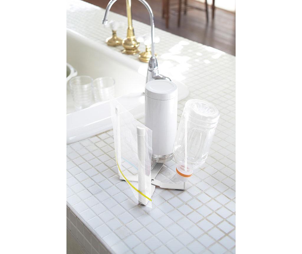 Składany stojak na reklamówki Tower White