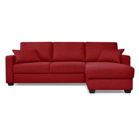 Разтегателен ъглов диван Milano Red