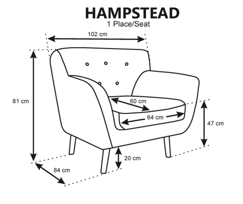 Fotelja Hampstead Grey