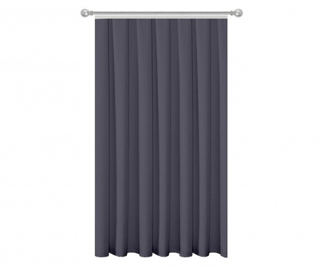 Draperie Plain Grey Plum 140x270 cm