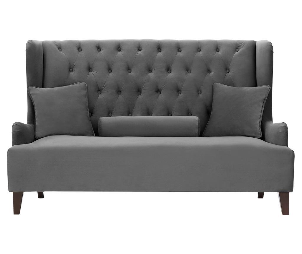 Canapea 2 locuri Flanelle Dark Grey
