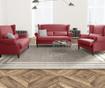 Canapea 3 locuri Alpaga Glamour Red