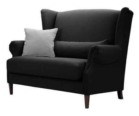 Canapea 2 locuri Alpaga Black