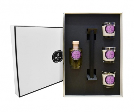 Set 3 lumanari parfumate, difuzor cu uleiuri esentiale si betisoare Parks Fig