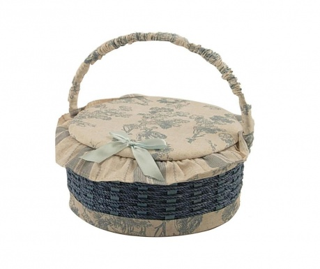 Košara s pokrovom za šivalni pribor Round Blue