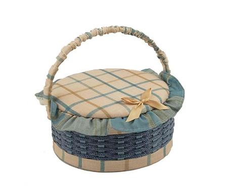 Košara za šivaći pribor s poklopcem Gialle Round