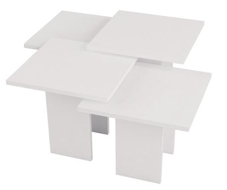 Sada 4 konferenčních stolků Grade  White