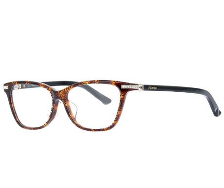 Swarovski Rectangular Brown Női szemüvegkeret