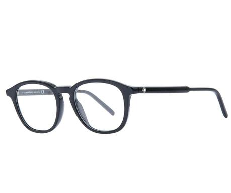 Montblanc Black Rectangular Női Szemüvegkeret