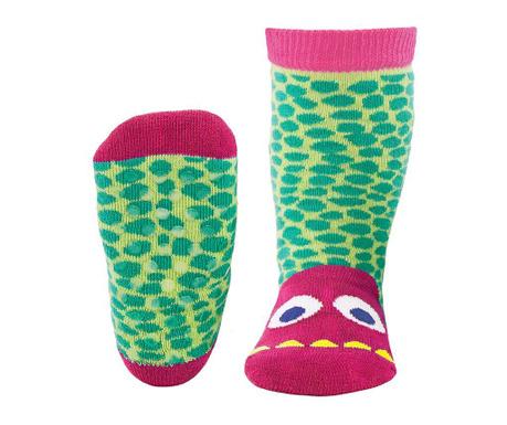 Чорапи с нехлъзгаща се подметка Monster Fuchsia