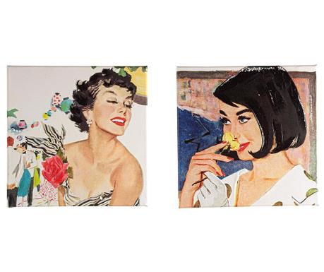 Vincent 2 db Festmény 30x30 cm