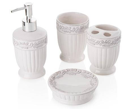 Antique Delicate White 4 darabos Fürdőszobai szett
