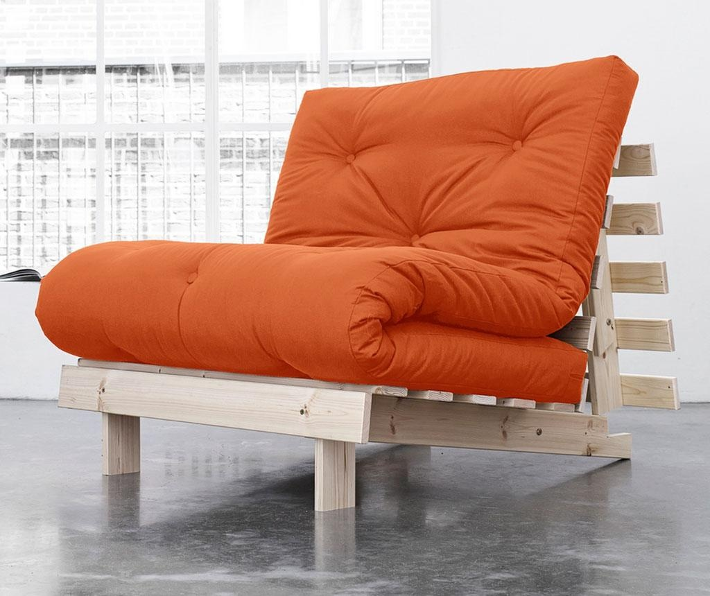 Sofa extensibila Roots Natural and Orange 90x200 cm