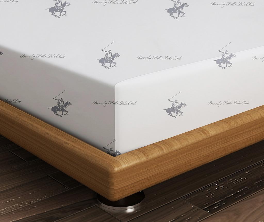 Cearsaf de pat Ranforce Polo Club Grey White 180x240 cm