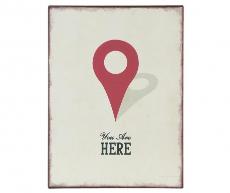 Decoratiune de perete You are Here