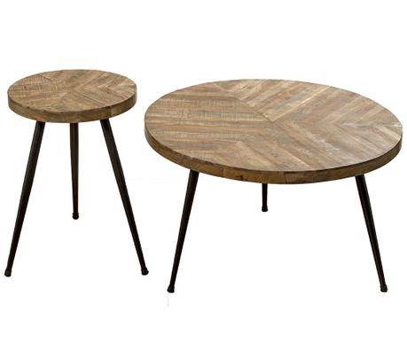 Set 2 klubskih mizic Mangifera
