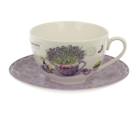 Sada šálek s podšálkem Lavender Garden