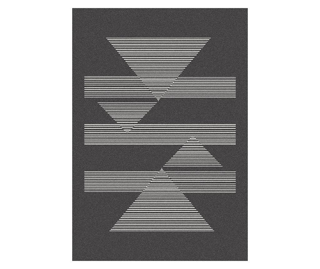 Tepih Norway Triangles Black 80x150 cm
