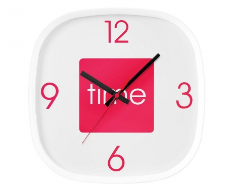 Стенен часовник Arco Hot Pink