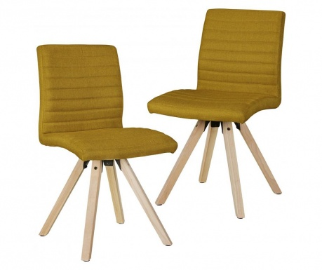 Set 2 scaune Sola Mustard