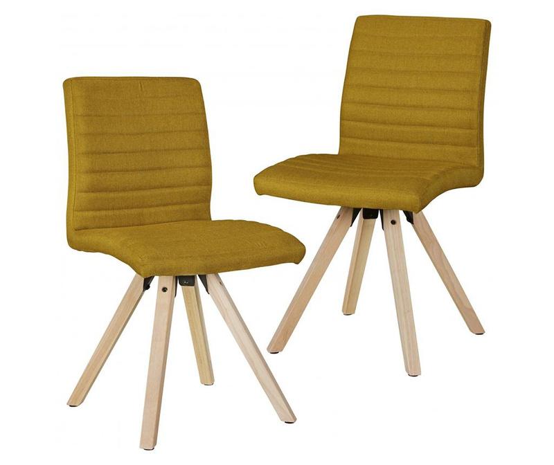 Zestaw 2 krzeseł Sola Mustard